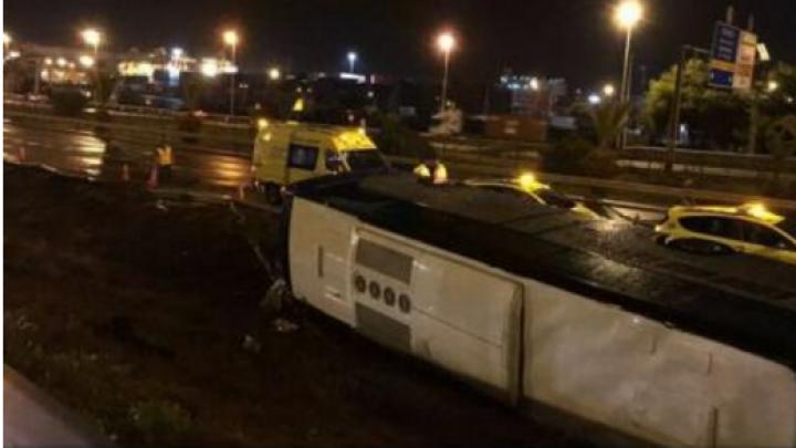 ACCIDENT de autocar cu turiști străini, în nord-estul Spaniei. Zeci de persoane au fost rănite