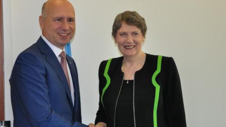 Obiectivul de dezvoltare durabilă a Moldovei, discutat de Pavel Filip şi Helen Clark