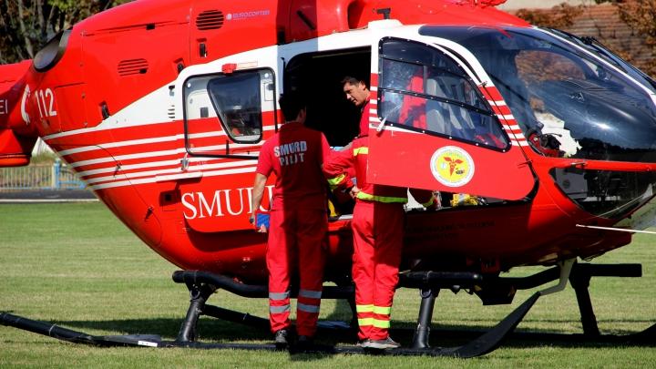 Un copil de trei ani din Orhei, transportat de URGENŢĂ cu elicopterul SMURD la Bucureşti