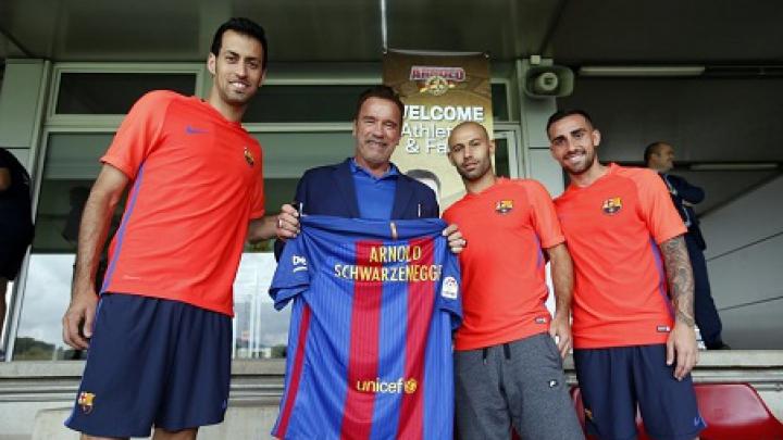 """Arnold Schwarzenegger , oaspete de onoare pe Camp Nou: """"Fotbalul este sportul meu preferat"""""""