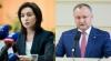 SPECTACOLUL ELECTORAL CONTINUĂ! Maia Sandu şi Igor Dodon se vor confrunta în turul II