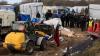 A început demolarea taberei de migranți din orașul francez Calais. Unde au fost transportați refugiații