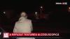 Şoferiţă NEDISCIPLINATĂ! S-a izbit de un sens giratoriu şi a refuzat testarea alcoolscopică (VIDEO)