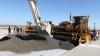 Finalizarea lucrărilor de betonare pe primul segment al pistei Aeroportului Internaţional Chişinău (FOTO)