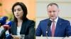 PREŞEDINTE pentru Moldova! Maia Sandu şi Igor Dodon se vor duela în turul II