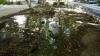 Mai multe familii din Durlești, fără apă. O țeavă s-a spart și a provocat o adevărată fântână arteziană