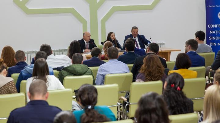 Premierul Pavel Filip s-a întâlnit cu tinerii sindicalişti. Subiectele abordate în cadrul întrevederii