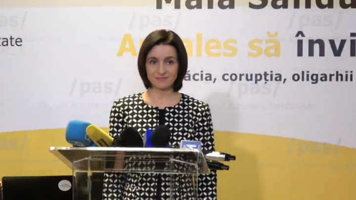 """Maia Sandu: """"Astăzi am făcut un prim pas spre victorie. Vă aştept în turul II"""""""
