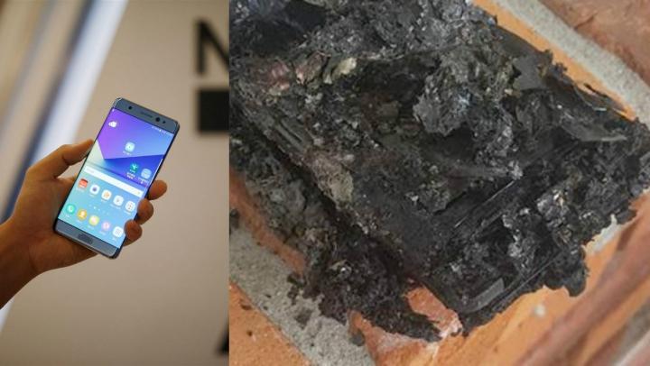 """PANICĂ la bordul unui avion! Un Galaxy Note7 din lotul """"sigur"""" a luat FOC (FOTO)"""