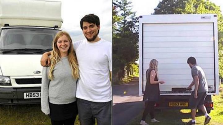 Locuinţa anti-criză! Un cuplu a transformat remorca unui camion într-un apartament (FOTO/VIDEO)