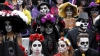 Parada MORŢILOR în capitala Mexicului. Sute de persoane i-au comemorat pe cei trecuţi în nefiinţă