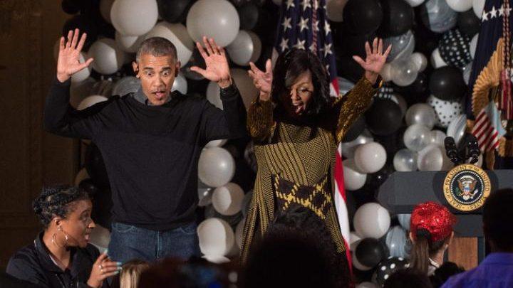 Barack și Michelle Obama, ultima lor petrecere de Halloween la Casa Albă (VIDEO)