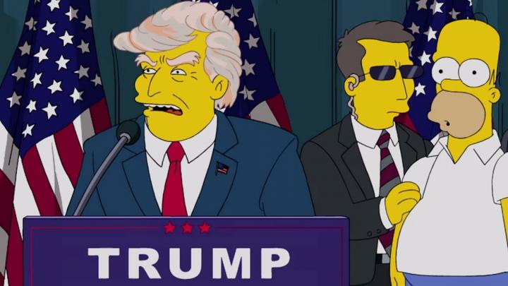 Familia Simpsons a prezis cu 16 ani în urmă că Trump va fi președinte (VIDEO)