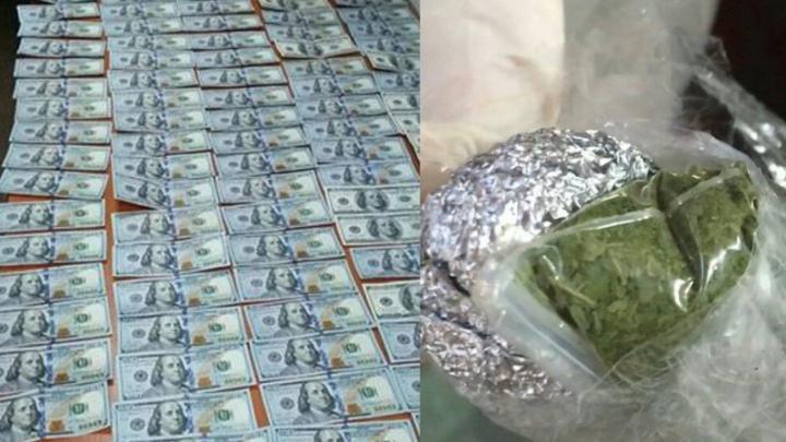 Mii de dolari şi cânepă, depistaţi în bagajele a doi moldoveni