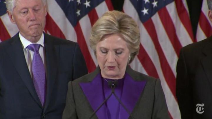 Motivul pentru care Hillary Clinton s-a îmbrăcat în violet la discursul după înfrângerea în alegeri