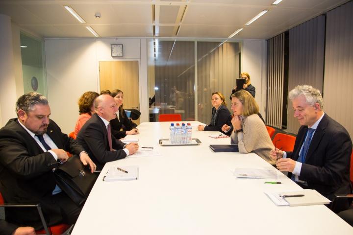 Premierul Pavel Filip s-a întâlnit cu Federica Mogherini. Subiectele abordate