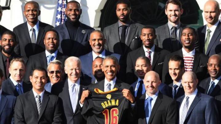 Campioana NBA Cleveland Cavaliers, primită la Casa Albă. Obama, cuvinte de laudă pentru LeBron James