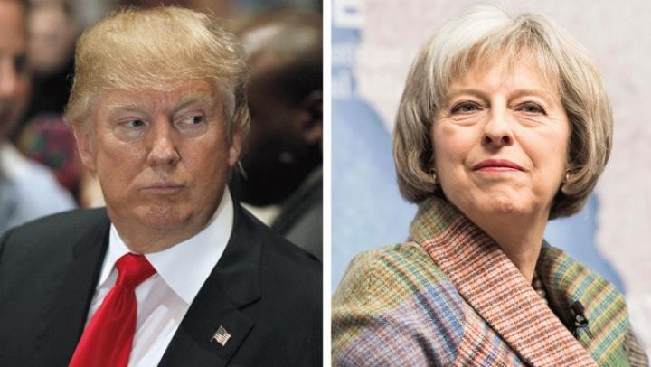 Donald Trump a invitat-o pe Theresa May să efectueze cât mai curând o vizită în SUA