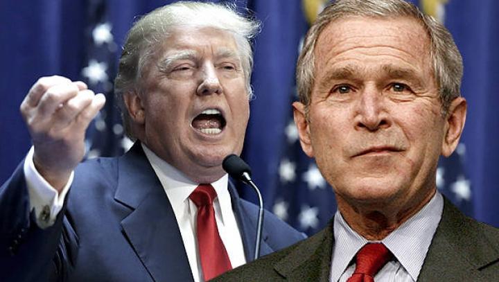 Gest neaşteptat: George W. Bush l-a sunat pe Donald Trump. Ce mesaj i-a transmis