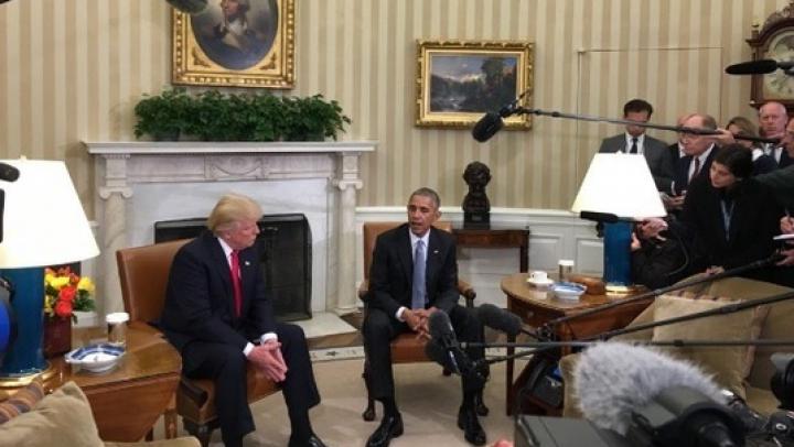 Donald Trump, la Casa Albă: Abia aştept să-i cer în viitor sfatul preşedintelui Barack Obama