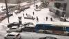 PUBLIKA WORLD: Două autobuze şi un utilaj de deszăpezire, implicate într-un accident în lanț (VIDEO)