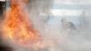 Incendiu de proporții. Flăcările au cuprins mai multe etaje ale unui spital aflat în construcţie
