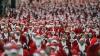 Sute de Moși Crăciuni au participat la maratoane organizate în două ţări