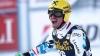 Max Franz, la prima sa victorie în Cupa Mondială de schi alpin. El s-a impus în proba de coborâre