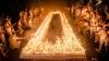 Record mondial: Peste 72.000 de lumânări aprinse pe tort (VIDEO)