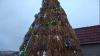 Ingeniozitatea n-are limită! Unde a fost inaugurat CEL MAI ORIGINAL Pom de Crăciun din Moldova