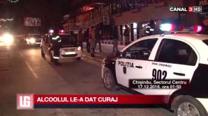 SCANDALAGII CHERCHELIŢI într-un local din Capitală! Doar Poliţia i-a putut linişti (VIDEO)