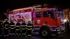 """""""Caravana pompierilor"""": Campanie de prevenire a incendiilor în perioada sărbătorilor de iarnă (FOTOREPORT)"""