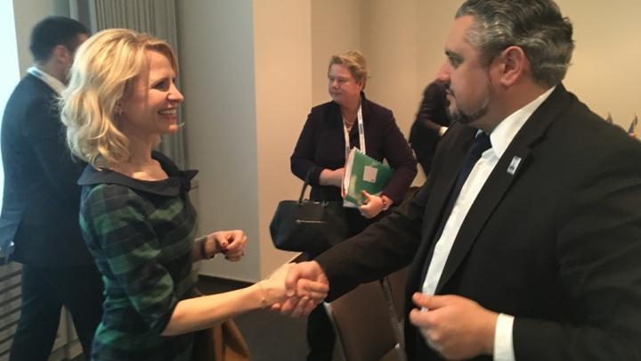 Andrei Galbur s-a întâlnit cu ministrul Afacerilor Externe al Principatului Liechtenstein, Aurelia Frick