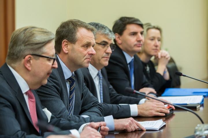 Pavel Filip A AVUT O ÎNTREVEDERE cu Vicepreședintele Băncii Europene de Investiţii pentru Republica Moldova