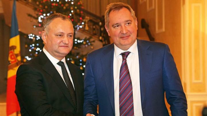 Întrevedere la miez de noapte. Dmitri Rogozin s-a întâlnit cu Igor Dodon