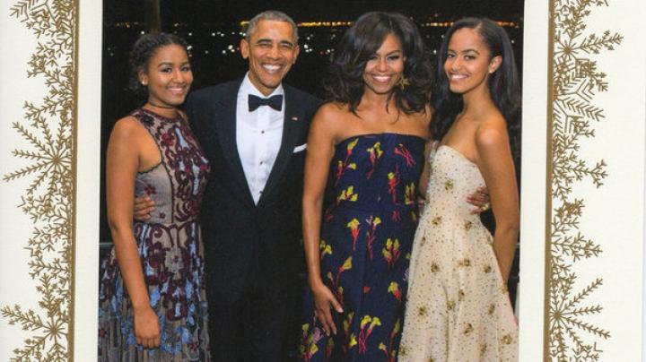 VIRAL! Cum arată ultima felicitare oficială de la Casa Albă a soţilor Obama