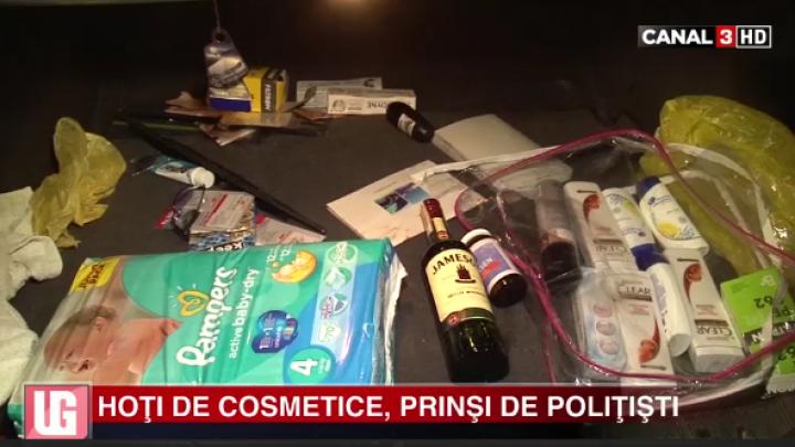 AU JEFUIT un magazin din Buiucani. Hoţii AU SUSTRAS produse cosmetice (VIDEO)