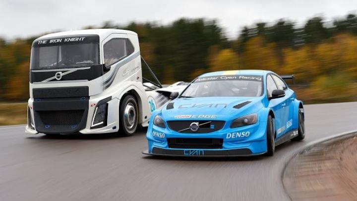 TURAŢII MAXIME! Cel mai rapid camion din lume vs. bolid de curse. CINE CÂŞTIGĂ (VIDEO)