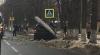 ACCIDENT în Capitală. Un bărbat a intrat cu maşina într-un pilon