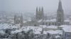 Palmieri și portocali acoperiți de zăpadă. În Spania au căzut cele mai abundente ninsori din ultimii ani