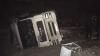 Accident la Slobozia Mare. Un TIR plin cu aragazuri s-a răsturnat într-o râpă (FOTO)