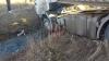 Un TIR înmatriculat în Moldova s-a răsturnat în România. Șoferul era în stare de ebrietate (FOTO/VIDEO)