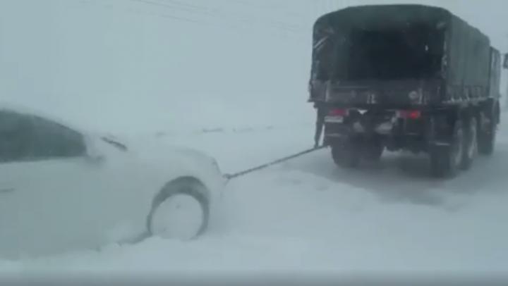 România, ÎNGHIŢITĂ de viscol! ARMATA INTERVINE în sprijinul celor afectați de căderile masive de zăpadă (VIDEO)