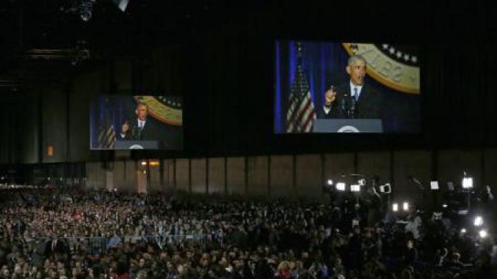IMPRESIONANT! Unde a fost mezina familiei Obama în timpul discursului de adio al tatălui său?