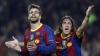 Distracţie şi relaxare la Barcelona. Gerard Pique şi Carles Puyol au jucat o partidă de tenis