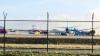 PANICĂ! Trenul de aterizare al unui avion a cedat pe aeroportul din Amsterdam (VIDEO)