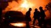 PANICĂ în Capitală. Un automobil a luat foc din senin