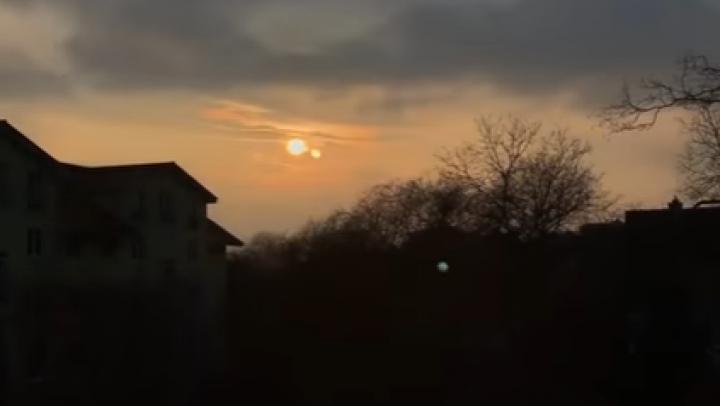 IMAGINI SPECTACULOASE. A apărut al doilea soare pe cer, într-o ţară europeană (VIDEO)