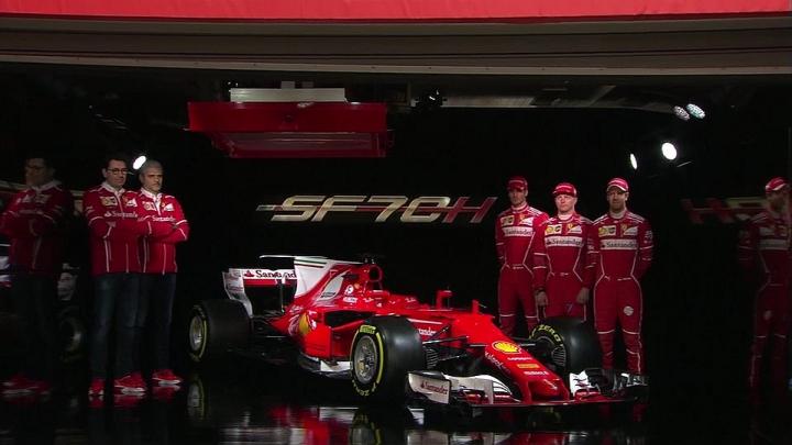 Formula 1: Ferrari şi-a prezentat monopostul cu care vor concura Kimi Raikkonen şi Sebastian Vettel