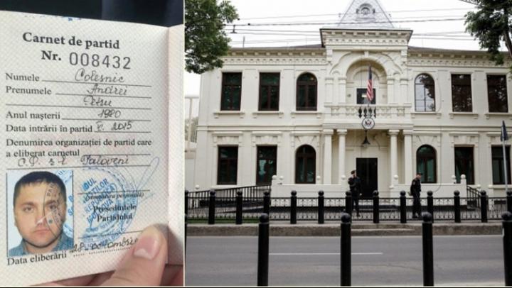SCANDALOS! Un membru PSRM, reținut după ce a lăsat o geantă suspectă în fața Ambasadei SUA